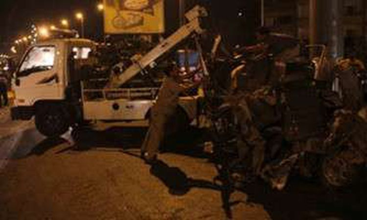 حادث تصادم مروع أعلى دائري المنيب وأنباء عن سقوط ضحايا