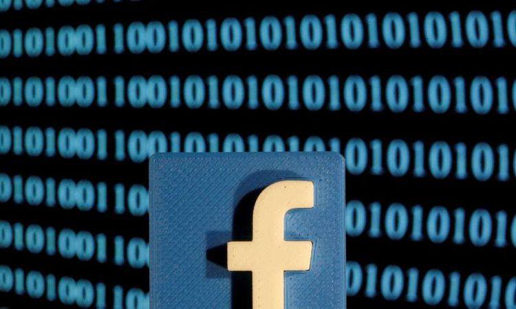 """شعار شركة """"فيسبوك"""" (REUTERS"""