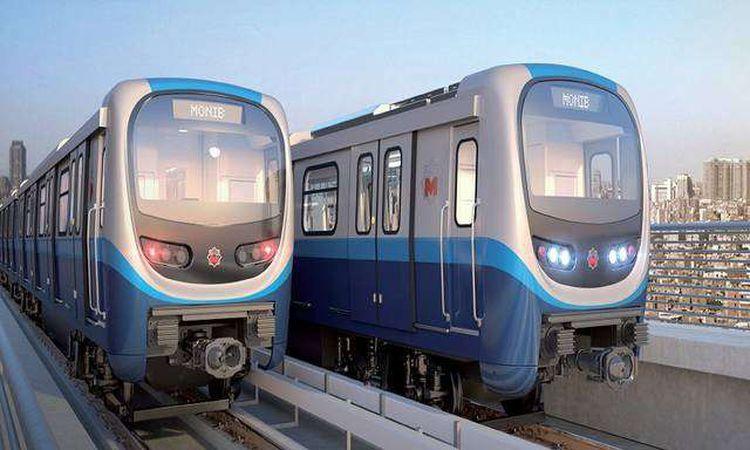 قطارات الخط الثالث لمترو الأنفاق