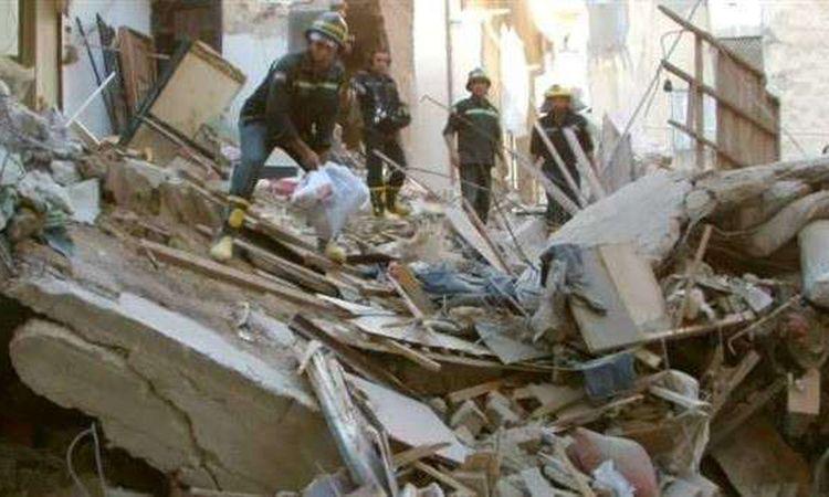 انهيار عقار بحي شمال الجيزة