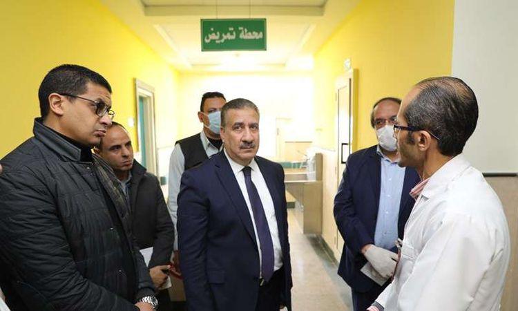 محافظ المنوفية يوجه بزيادة عدد غرف العزل بمستشفى الباجور