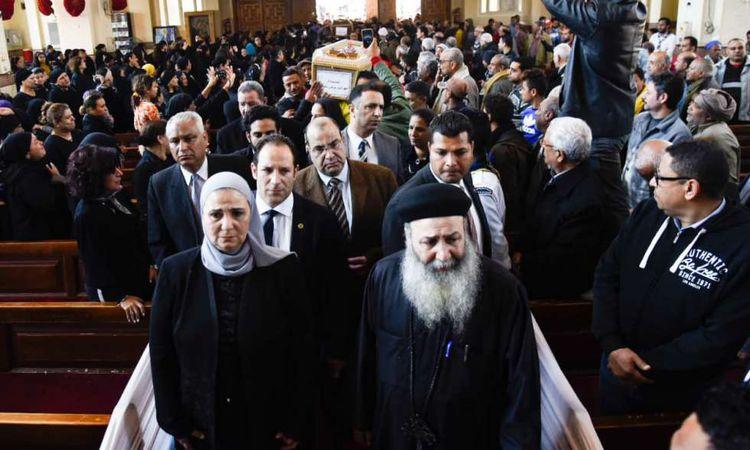 القباج في جنازة ضحايا منطقة الزرايب