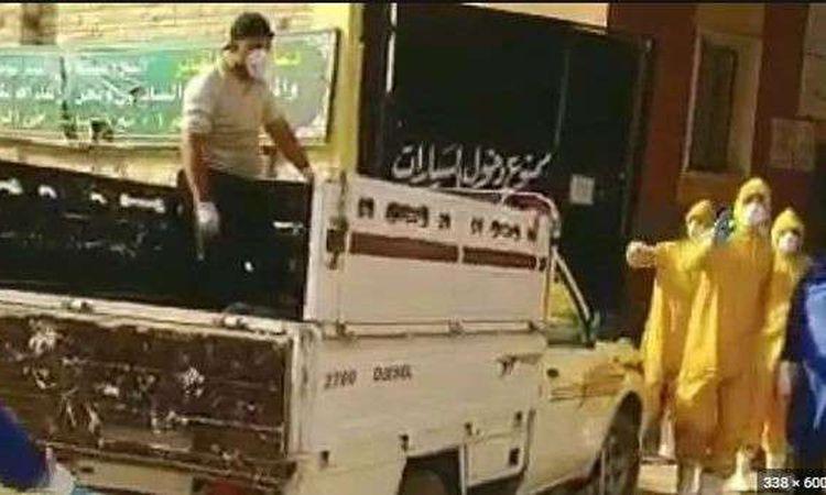 نقل متوفى كورونا ببورسعيد بعربية مكشوفة