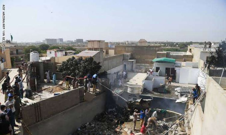 تحطم طائرة ركاب باكستانية