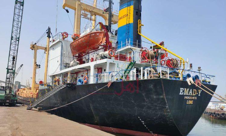 تدفق السلع والبضائع والمواد البترولية علي ميناء الإسكندرية