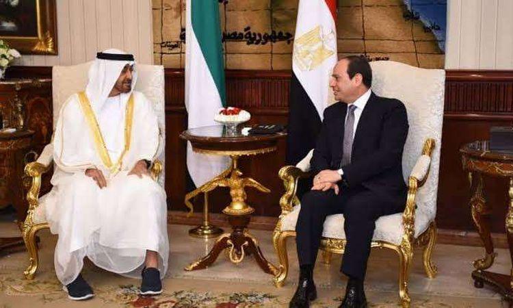 الرئيس السيسي ومحمد بن زايد يتبادلان التهنئة