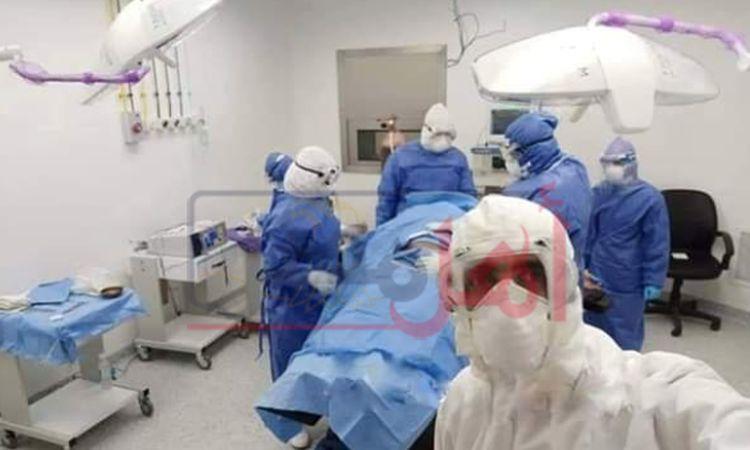 أول ولادة في مستشفي الحجر الصحي بالمنيا