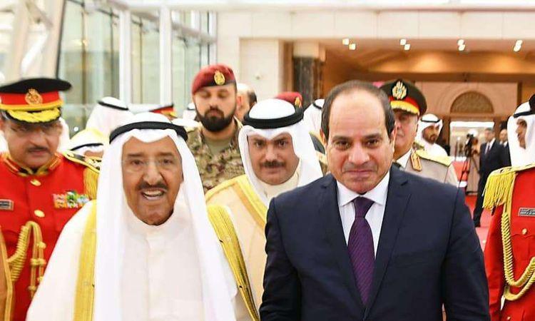 السيسي يطمئن على صحة أمير الكويت