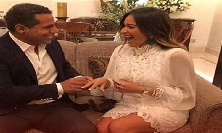 امينة خليل وخطيبها عمر طه