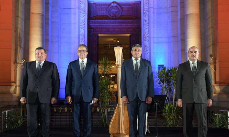 وزير السياحة والآثار يزور مع الأمين العام لمنظمة السياحة العالمية المتحف المصري بالتحرير