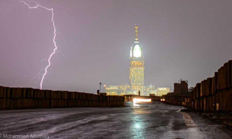 أمطار على مكة المكرمة