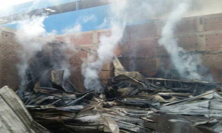 حريق أخشاب- صورة أرشيفية