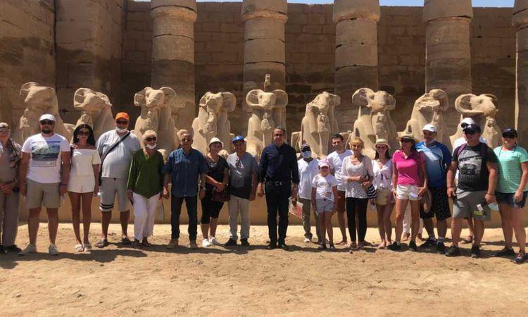 وزير السياحة والآثار يتفقد معبد الكرنك بمحافظة الأقصر