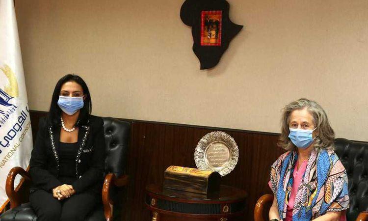 مايا مرسي تستقبل سفيرة البرتغال