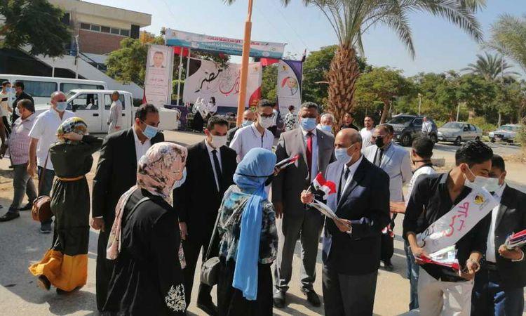 وسط إجراءات احترازية مشددة انتظام الدراسة بكليات جامعة المنيا الـ20 في يومها الأول