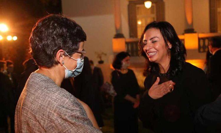 الدكتورة مايا مرسي  والسيدة  أرانتشا غونثاليث لايا